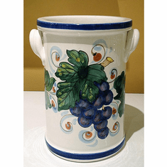 "Intrada Italy Wine Cooler Grapes 8"" H x 4 1 2"" W"