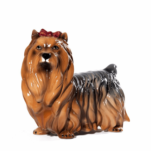 Intrada Italy Yorkshire Terrier Dog Statue