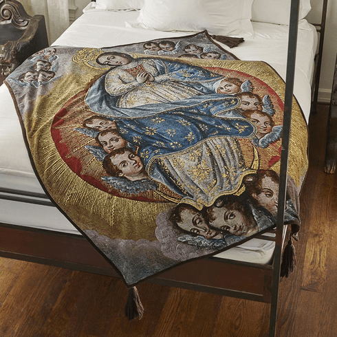 Jan Barboglio Our Lady Of Little Angels Throw