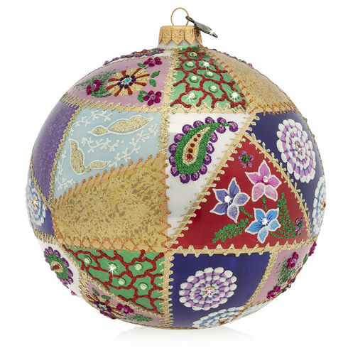 Jay Strongwater 2019 Opulent Glass Ornament