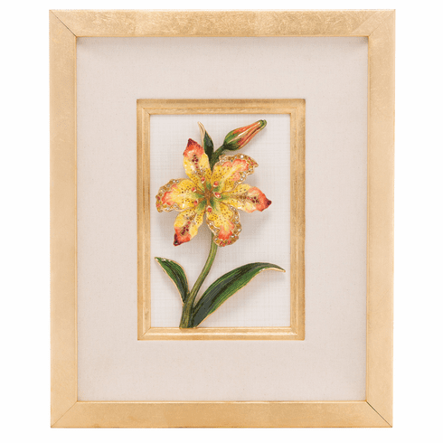 Jay Strongwater Amara Lily Wall Art