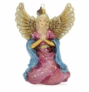 Jay Strongwater Angel Kneeling Glass Ornament