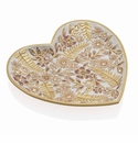 Jay Strongwater Aria Floral Heart Trinket Tray, Boudoir