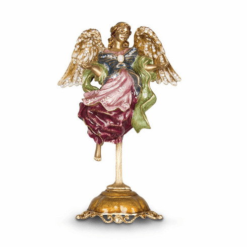 Jay Strongwater Ascending Angel Figurine & Stand - Jewel