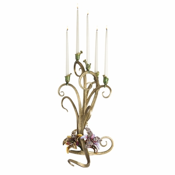 Jay Strongwater Aubree Orchid Candelabra