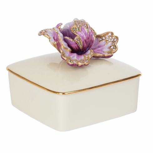 Jay Strongwater Bailey Tulip Porcelain Box