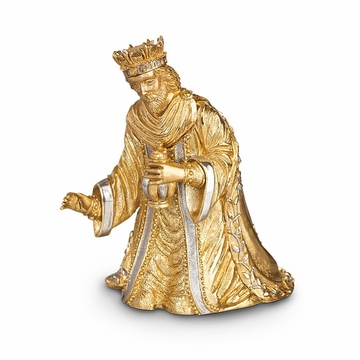 Jay Strongwater Nativity Wise Man Balthazar Figurine - Gold