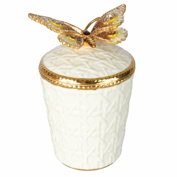 Jay Strongwater Bridget Butterfly Candle - Golden