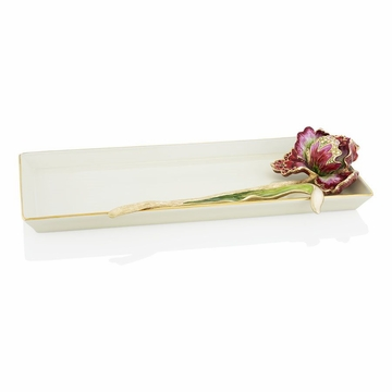 Jay Strongwater Calista Tulip Tray