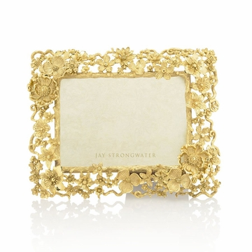 Jay Strongwater Carol Floral Cluster 5in. x 7in. Frame