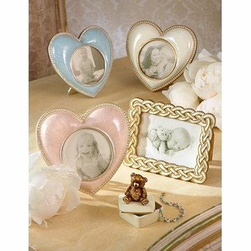 Jay Strongwater Chantal Heart Frame - Pale Blue