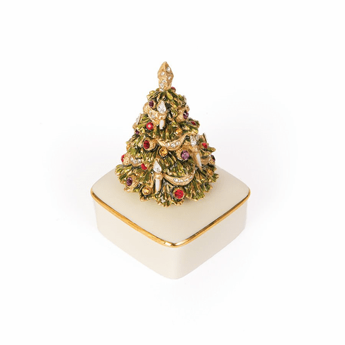 Jay Strongwater Christmas Tree Porcelain Box