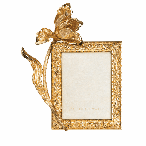 Jay Strongwater Claudia Gold Tulip 3in. x 4in. Frame
