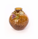 Jay Strongwater Cleo Leaf & Flower Mini Vase
