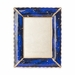 Jay Strongwater Clifton  Ruffle Edge 5in. x 7in. Frame - Sapphire Blue