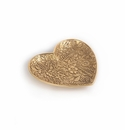 Jay Strongwater Colleen Floral Heart Trinket Tray, Gold Comp