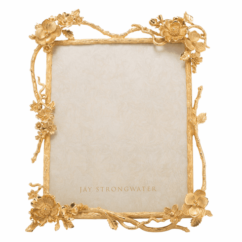 Jay Strongwater Dacia Gold Floral Branch 8in. x 10in. Frame