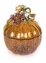 Jay Strongwater Dalton Leaf & Vine Jeweled Large Glass Jar-Bouquet