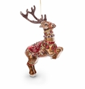 Jay Strongwater Dancer Reindeer Glass Ornament