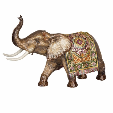 Jay Strongwater Duke Grand Tapestry Elephant Figurine - Brocade