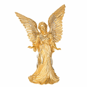 Jay Strongwater (E) Gilded Angel Figurine