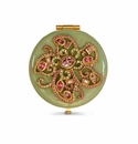 Jay Strongwater Elizabeth Flower Jeweled Compact
