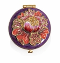 Jay Strongwater Floral Round Compact