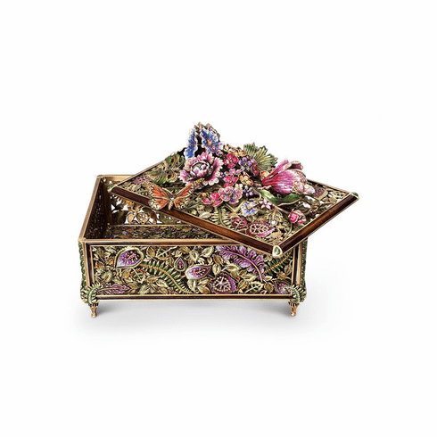 Jay Strongwater Genevieve Grand Floral Chest, Flora