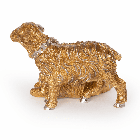 Jay Strongwater Gilded Mother & Baby Sheep Figurine
