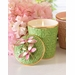 Jay Strongwater Ivy Dragonfly Candle - Rose Celadon