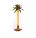 Jay Strongwater Kiana Palm Leaf Jeweled Glass Candlestick - Bouquet