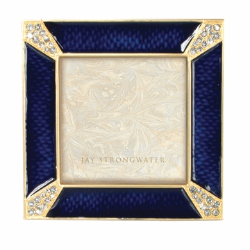 Jay Strongwater Leland Pave Corner 2in. Square Frame