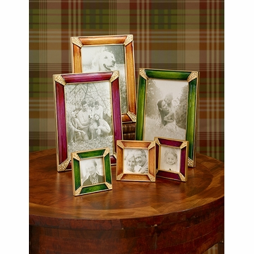 Jay Strongwater Leland Pave Corner 2in. Square Frame - Vibrant Berry