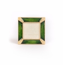 Jay Strongwater Leland Pave Corner 2in. Square Frame - Vibrant Emerald Green
