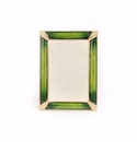 Jay Strongwater Leonard Pave Corner 4in. x 6in. Frame - Emerald Green