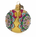 "Jay Strongwater Mandala 3"" Glass Ornament"