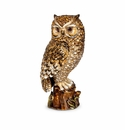 """Jay Strongwater Milo Owl 7"""" Figurine - Natural"""
