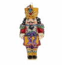 Jay Strongwater Nutcracker Glass Ornament