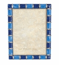Jay Strongwater Pierce Striped 5in. x 7in. Frame - Delft Garden