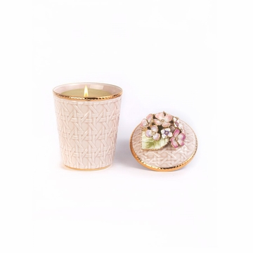 Jay Strongwater Riley Hydrangea Candle - Flora
