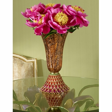 Jay Strongwater Sabrina Feather Vase