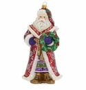 Jay Strongwater Santa Glass Ornament