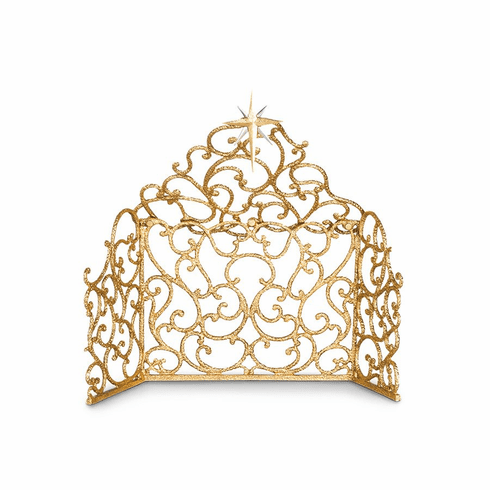 Jay Strongwater Scroll Creche for Nativity - Gold