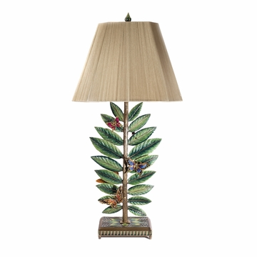 Jay Strongwater Timothy Butterfly & Leaf Lamp - Flora