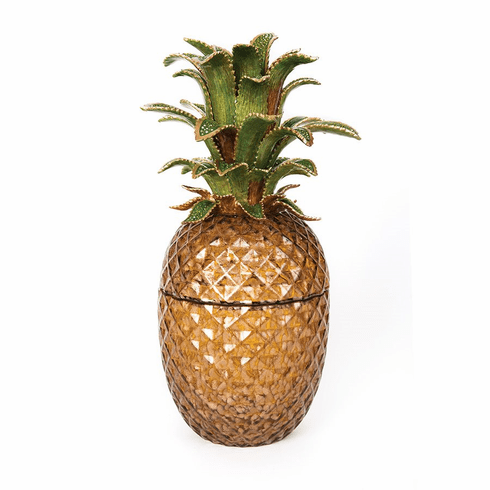 Jay Strongwater Winston Pineapple Jeweled Glass Jar - Bouquet