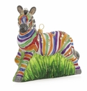 Jay Strongwater Zebra Glass Ornament
