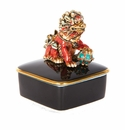 Jay Strongwater Zhen Foo Dog Porcelain Box