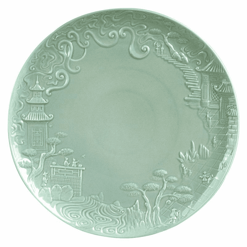 Jean Boggio for Franz Collection China Impression Main Celedon Plate