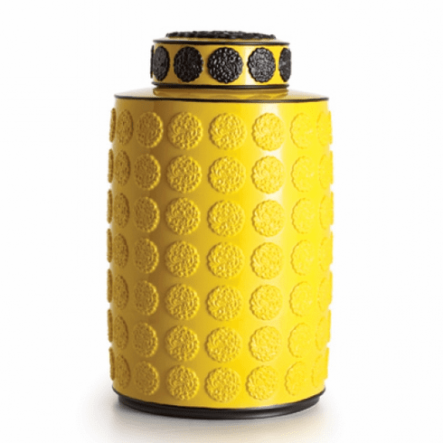 Jean Boggio for Franz Collection Rainbow Yellow Ginger Jar