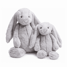 Jellycat Bashful Grey Bunny - Medium Stuffed Animal